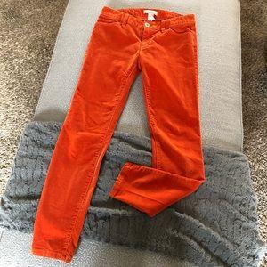 Banana Republic Orange Corduroy Pants Cords: 26